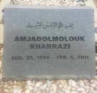 KHARRAZI, AMJADOLMOLOUK - Los Angeles County, California | AMJADOLMOLOUK KHARRAZI - California Gravestone Photos
