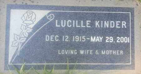 KINDER, LUCILLE - Los Angeles County, California | LUCILLE KINDER - California Gravestone Photos