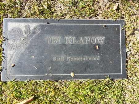 KLAPOW, IBI - Los Angeles County, California | IBI KLAPOW - California Gravestone Photos
