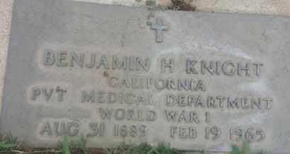 KNIGHT, BENJAMIN - Los Angeles County, California | BENJAMIN KNIGHT - California Gravestone Photos