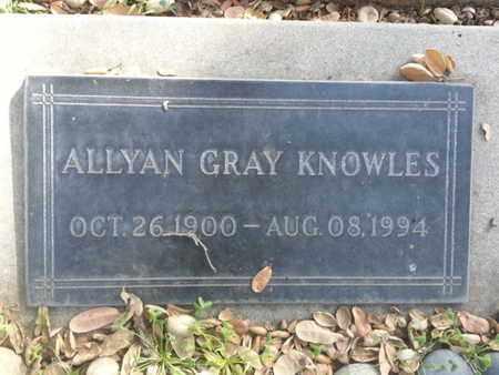 KNOWLES, ALLYAN - Los Angeles County, California | ALLYAN KNOWLES - California Gravestone Photos