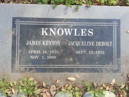 DEBOLT KNOWLES, JACQUELINE - Los Angeles County, California | JACQUELINE DEBOLT KNOWLES - California Gravestone Photos
