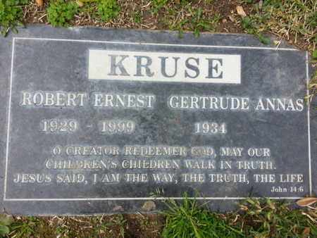 KRUSE, GERTRUDE A. - Los Angeles County, California | GERTRUDE A. KRUSE - California Gravestone Photos