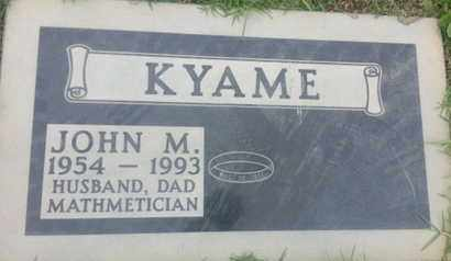 KYAME, JOHN - Los Angeles County, California | JOHN KYAME - California Gravestone Photos