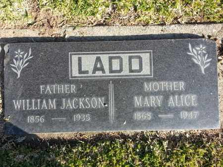 LADD, WILLIAM JACKSON - Los Angeles County, California | WILLIAM JACKSON LADD - California Gravestone Photos