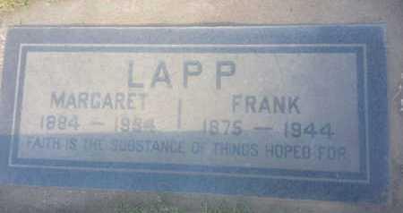 LAPP, MARGARET - Los Angeles County, California | MARGARET LAPP - California Gravestone Photos