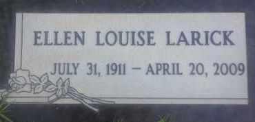 LARICK, ELLEN - Los Angeles County, California   ELLEN LARICK - California Gravestone Photos