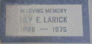 LARICK, LILY - Los Angeles County, California | LILY LARICK - California Gravestone Photos