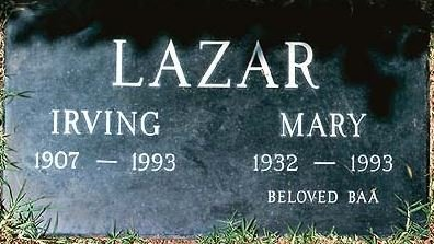 LAZAR, MARY - Los Angeles County, California   MARY LAZAR - California Gravestone Photos