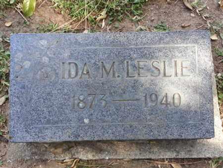 LESLIE, IDA M. - Los Angeles County, California | IDA M. LESLIE - California Gravestone Photos