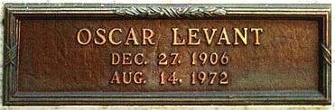 LEVANT, OSCAR (ACTOR) - Los Angeles County, California   OSCAR (ACTOR) LEVANT - California Gravestone Photos