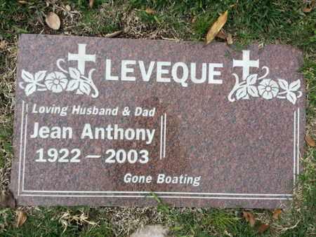 LEVEQUE, JEAN - Los Angeles County, California | JEAN LEVEQUE - California Gravestone Photos