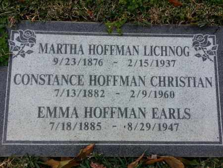 LICHNOG, MARTHA - Los Angeles County, California   MARTHA LICHNOG - California Gravestone Photos