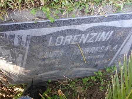 LORENZINI, SANTO - Los Angeles County, California | SANTO LORENZINI - California Gravestone Photos
