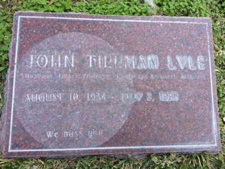 LYLE, JOHN TILLMAN - Los Angeles County, California   JOHN TILLMAN LYLE - California Gravestone Photos
