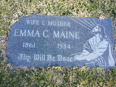 MAINE, EMMA C. - Los Angeles County, California | EMMA C. MAINE - California Gravestone Photos