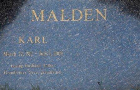 MALDEN, KARL  (ACTOR) - Los Angeles County, California | KARL  (ACTOR) MALDEN - California Gravestone Photos