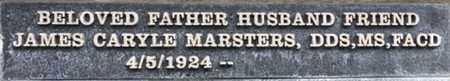 MARSTERS, JAMES CARYL, DDS, MS, FACD - Los Angeles County, California | JAMES CARYL, DDS, MS, FACD MARSTERS - California Gravestone Photos