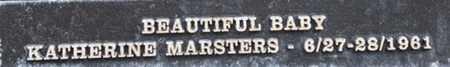 MARSTERS, KATHERINE - Los Angeles County, California | KATHERINE MARSTERS - California Gravestone Photos