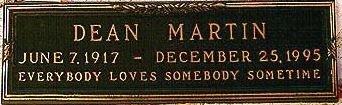 MARTIN, DEAN  (SINGER/ACTOR) - Los Angeles County, California | DEAN  (SINGER/ACTOR) MARTIN - California Gravestone Photos
