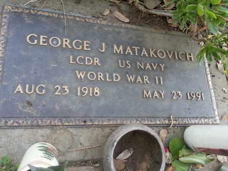 MATAKOVICH, GEORGE J. - Los Angeles County, California   GEORGE J. MATAKOVICH - California Gravestone Photos