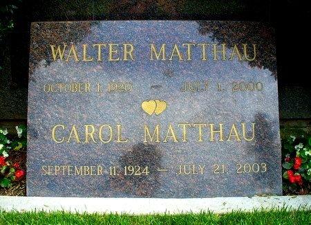 MATTHAU, WALTER JOHN  (ACTOR) - Los Angeles County, California   WALTER JOHN  (ACTOR) MATTHAU - California Gravestone Photos