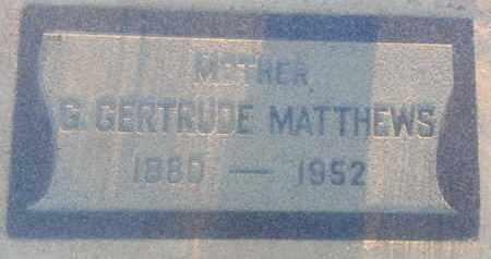 MATTHEWS, G - Los Angeles County, California | G MATTHEWS - California Gravestone Photos