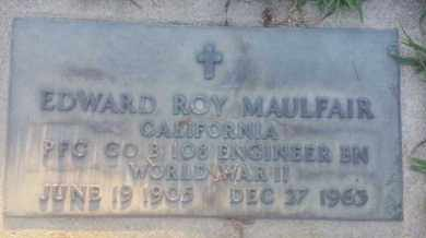 MAULFAIR, EDWARD - Los Angeles County, California | EDWARD MAULFAIR - California Gravestone Photos