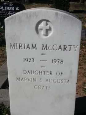 COATS MCCARTY, MIRIAM - Los Angeles County, California | MIRIAM COATS MCCARTY - California Gravestone Photos