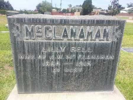 BELL MCCLANAHAN, LILLY - Los Angeles County, California | LILLY BELL MCCLANAHAN - California Gravestone Photos