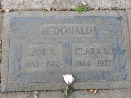 MCDONALD, CLARA M. - Los Angeles County, California   CLARA M. MCDONALD - California Gravestone Photos