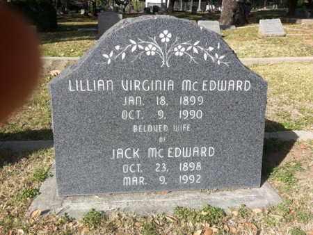 MCEDWARD, LILLIAN VIRGINIA - Los Angeles County, California | LILLIAN VIRGINIA MCEDWARD - California Gravestone Photos