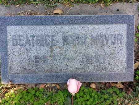 MCIVER, BEATRICE - Los Angeles County, California | BEATRICE MCIVER - California Gravestone Photos