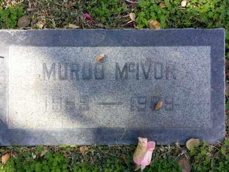 MCIVOR, MURDO - Los Angeles County, California   MURDO MCIVOR - California Gravestone Photos