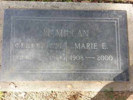 MCMILLAN, MARIE E. - Los Angeles County, California | MARIE E. MCMILLAN - California Gravestone Photos