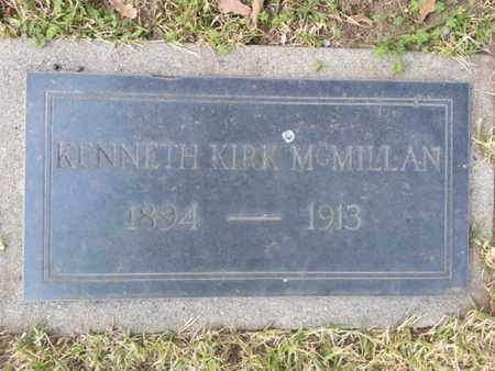 MCMILLIAN, KENNETH KIRK - Los Angeles County, California | KENNETH KIRK MCMILLIAN - California Gravestone Photos