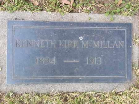 MCMILLIAN, KENNETH KIRK - Los Angeles County, California | KENNETH KIRK MCMILLIAN - California Gravestone Photos