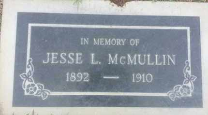 MCMULLIN, JESSE - Los Angeles County, California | JESSE MCMULLIN - California Gravestone Photos