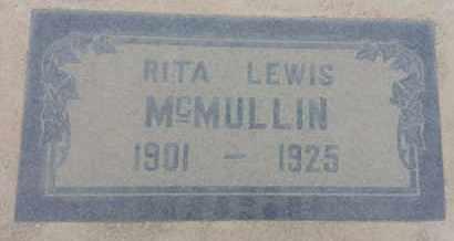 MCMULLIN, RITA - Los Angeles County, California | RITA MCMULLIN - California Gravestone Photos