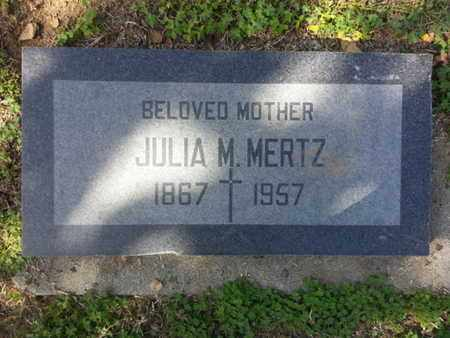 MERTZ, JULIA M. - Los Angeles County, California | JULIA M. MERTZ - California Gravestone Photos