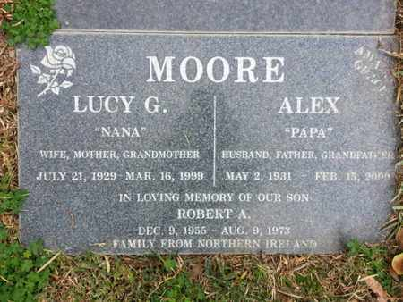 MOORE, ALEX - Los Angeles County, California | ALEX MOORE - California Gravestone Photos