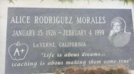 MORALES, ALICE - Los Angeles County, California | ALICE MORALES - California Gravestone Photos