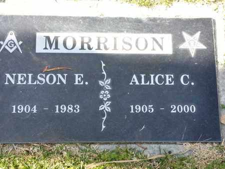 MORRISON, NELSON E. - Los Angeles County, California | NELSON E. MORRISON - California Gravestone Photos