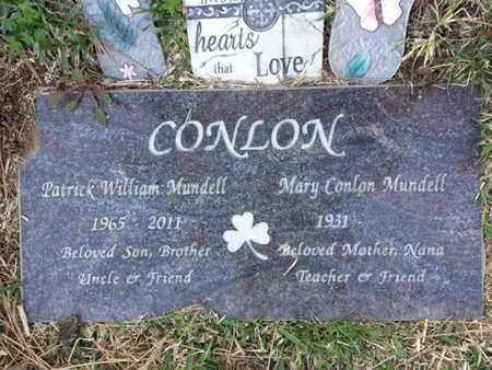 CONLON MUNDELL, MARY - Los Angeles County, California | MARY CONLON MUNDELL - California Gravestone Photos