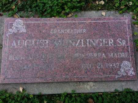 MUNZLINGER SR., AUGUST - Los Angeles County, California   AUGUST MUNZLINGER SR. - California Gravestone Photos