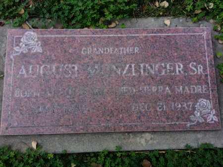 MUNZLINGER SR., AUGUST - Los Angeles County, California | AUGUST MUNZLINGER SR. - California Gravestone Photos