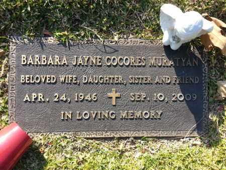 COCORES MURATYAN, BARBARA JANE - Los Angeles County, California | BARBARA JANE COCORES MURATYAN - California Gravestone Photos