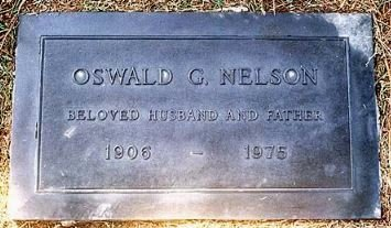 NELSON, OSWALD GEORGE - Los Angeles County, California   OSWALD GEORGE NELSON - California Gravestone Photos