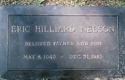NELSON, RICKY  [ACTOR / SINGER] - Los Angeles County, California   RICKY  [ACTOR / SINGER] NELSON - California Gravestone Photos