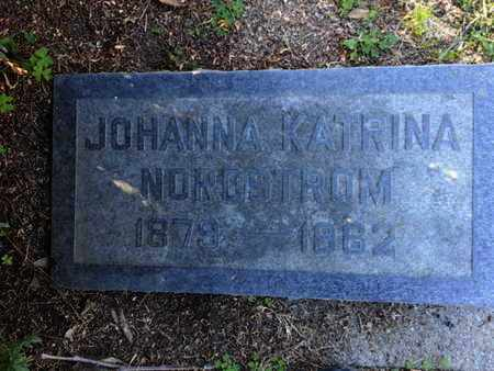 NORDSTROM, JOHANNA KATRINA - Los Angeles County, California | JOHANNA KATRINA NORDSTROM - California Gravestone Photos